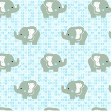 FELT SANTA FE COLLECTION DEBORA RADTKE-FELTRICO ELEPHANT BLUE